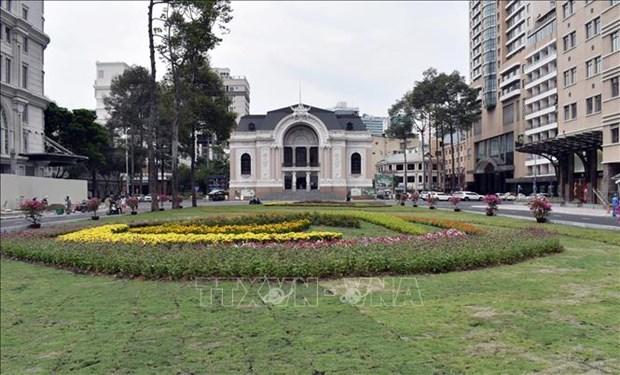 胡志明市市内地铁一号线市剧院站B1层基本竣工 hinh anh 1