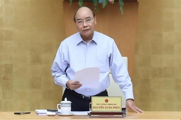 阮春福总理:加强新冠肺炎疫情防控工作中落实工作的检查力度 hinh anh 1