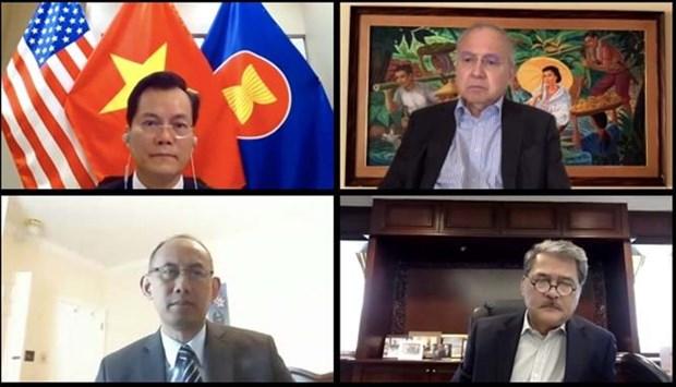 越南出席华盛顿东盟委员会的首次视频会议 hinh anh 1