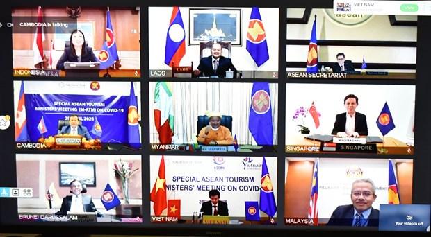 东盟十国就恢复旅游业召开视频会议 hinh anh 1