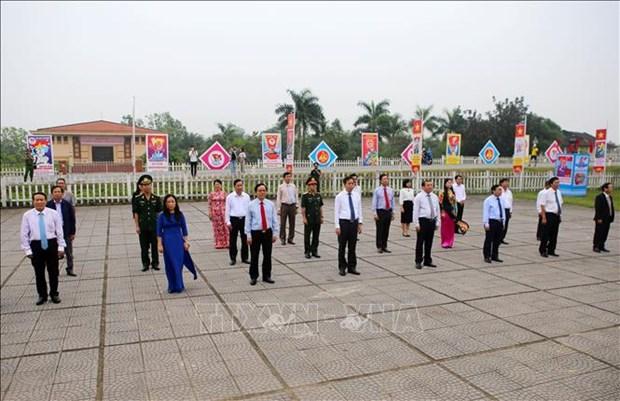"""国家统一45周年: """"江山统一""""升旗仪式隆重举行 hinh anh 2"""
