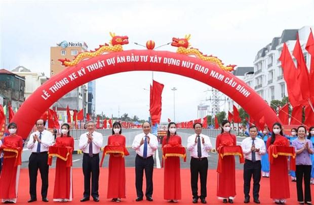 越南政府总理阮春福出席海防市高跪木桩基地保护区项目动工仪式 hinh anh 3