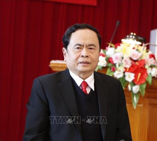 越南祖国阵线中央委员会主席向佛教大典致贺信 hinh anh 1