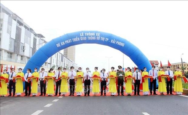 海防城市交通发展项目正式通车 hinh anh 1