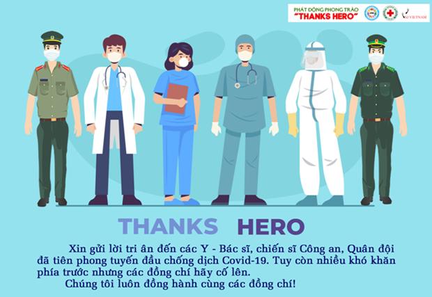 """""""感谢英雄""""活动——向奋战在抗击疫情防控一线的英雄致敬 hinh anh 1"""