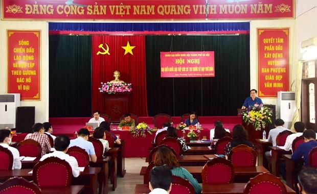 河内市国会代表团与丹凤县选民面对面交流 hinh anh 2
