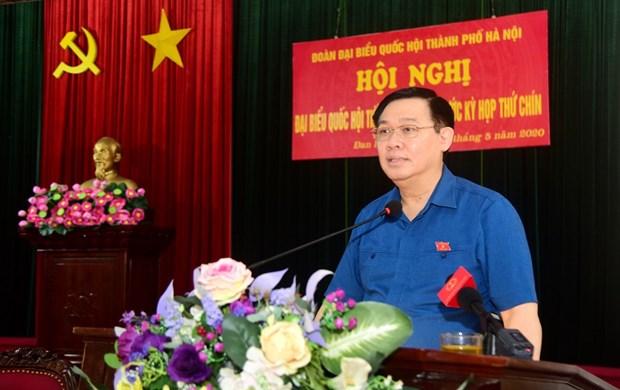 河内市国会代表团与丹凤县选民面对面交流 hinh anh 1
