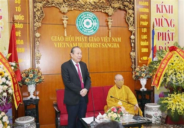 越南政府常务副总理张和平祝贺佛诞大典 hinh anh 2