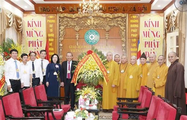 越南政府常务副总理张和平祝贺佛诞大典 hinh anh 1