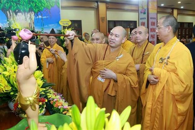越南佛教协会隆重举行佛历2564年佛诞节浴佛大典 hinh anh 2