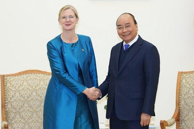 瑞典驻越南大使安娜·马尾:近十年来越南发展迅猛 hinh anh 1