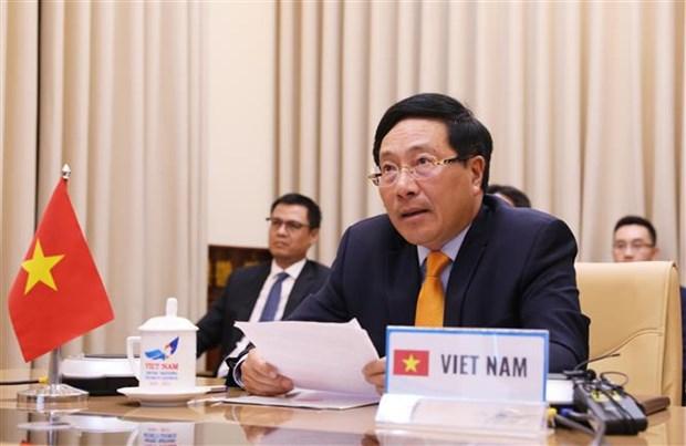越南政府副总理兼外交部长范平明在联合国安理会视频峰会上的讲话(全文) hinh anh 1