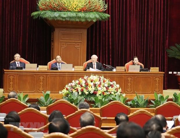 越共十二届中央委员会第十二次全体会议公报(第一号) hinh anh 1