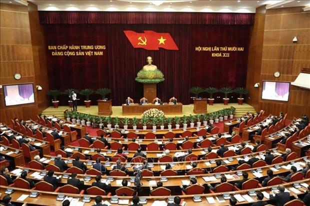 越共十二届中央委员会第十二次全体会议公报(第二号) hinh anh 1