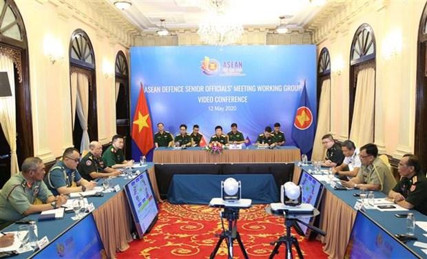 2020东盟轮值主席国年:东盟防务高官工作组视频会议在河内召开 hinh anh 3