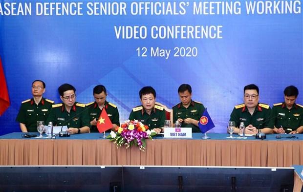 2020东盟轮值主席国年:东盟防务高官工作组视频会议在河内召开 hinh anh 1