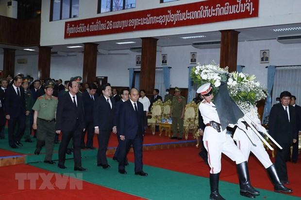 越南领导人就原老挝政府总理西沙瓦·乔本潘大将逝世向老挝领导人致唁电 hinh anh 1
