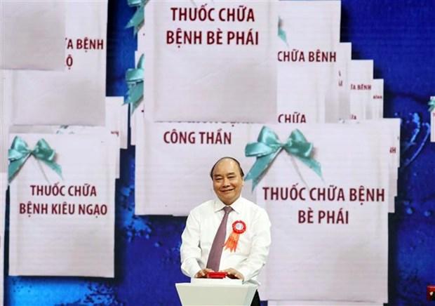 """阮春福总理:学习和践行胡志明道德榜样是将越南建设成为""""与五大洲强国并驾齐驱""""国家切合实际的举措 hinh anh 3"""