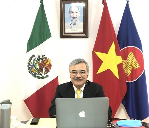 2020东盟轮值主席年:东盟与墨西哥分享防控新冠肺炎疫情经验做法 hinh anh 1