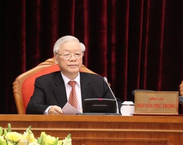 阮富仲:越共第十三届中央委员会要做到团结紧张、严肃活泼,确保全党统一意志、统一行动、步调一致向前进 hinh anh 1