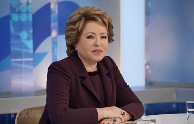 俄罗斯联邦委员会主席感谢越南捐赠医疗物资抗击疫情 hinh anh 1