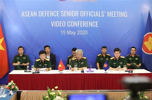 2020东盟轮值主席年:东盟国防高级官员视频会议召开 hinh anh 2