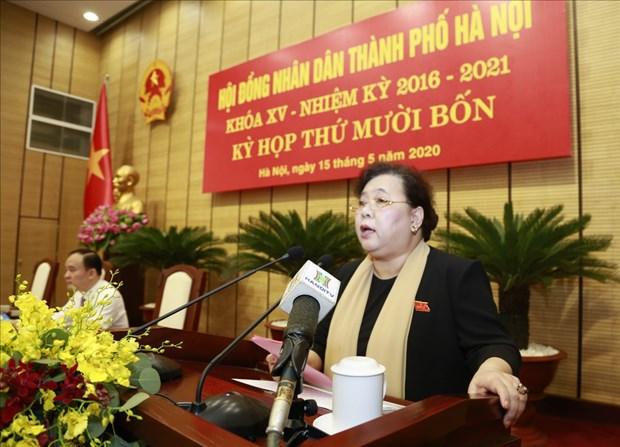 河内市第十四届人民议会第14次会议讨论多项问题 助力经济社会发展 hinh anh 1