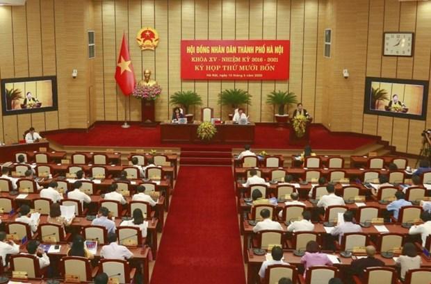 河内市第十四届人民议会第14次会议讨论多项问题 助力经济社会发展 hinh anh 2