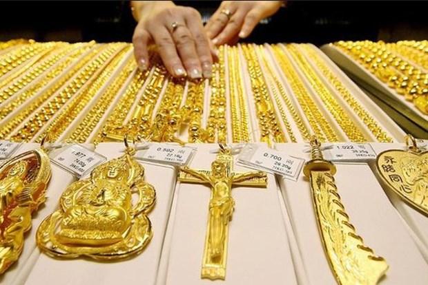 5月18日越南国内黄金价格上涨40万越盾以上 hinh anh 1