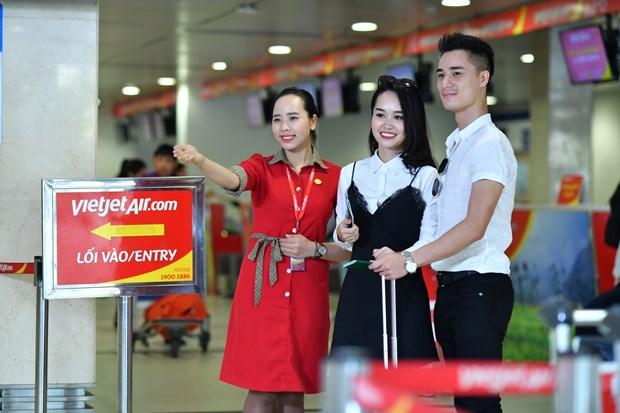 越捷航空公司推出20多万张零越盾起的机票 hinh anh 1