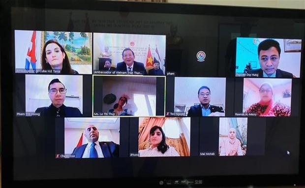 """""""胡志明主席——民族解放英雄、文化名人""""的视频研讨会在埃及举行 hinh anh 1"""