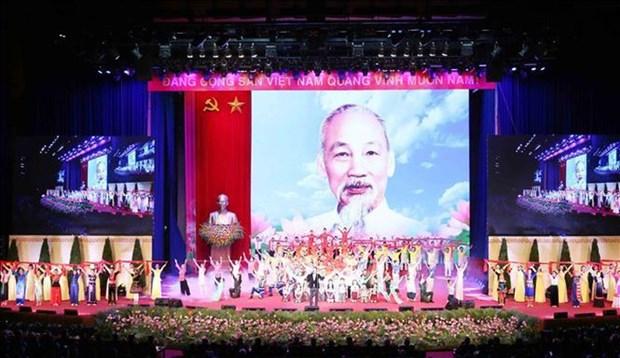 各国政党和国际友人就胡志明主席诞辰130周年致电越南领导人 hinh anh 1
