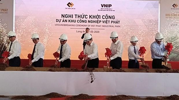 越南大型工业区——越发工业区在隆安省动工兴建 hinh anh 1