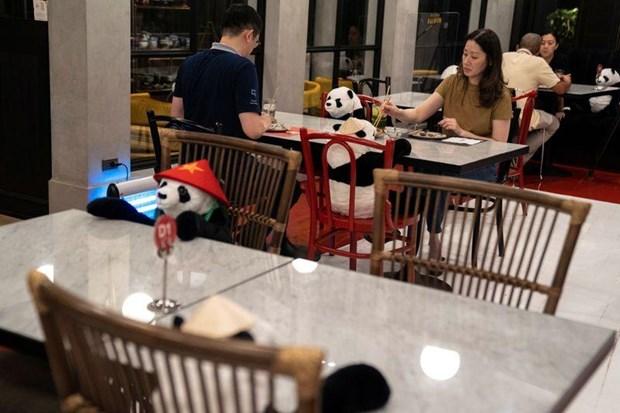 在泰国的越南餐厅采用创新的隔离式就餐办法 hinh anh 2