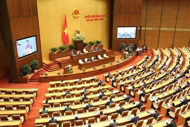 越南第十四届国会第九次会议隆重开幕 hinh anh 1