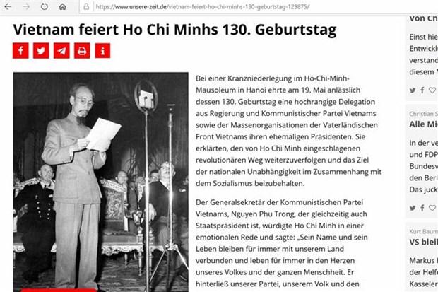 德国媒体隆重报道纪念胡志明主席诞辰130周年的消息 hinh anh 1