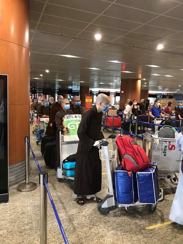 越南公民乘坐越捷航空公司的航班从缅甸回国 hinh anh 1