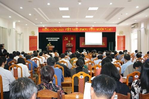 岘港市为党的各级代表大会做好准备 力争6月15日前顺利进行 hinh anh 1