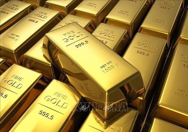 越南国内黄金价格保下降8万越盾 hinh anh 1