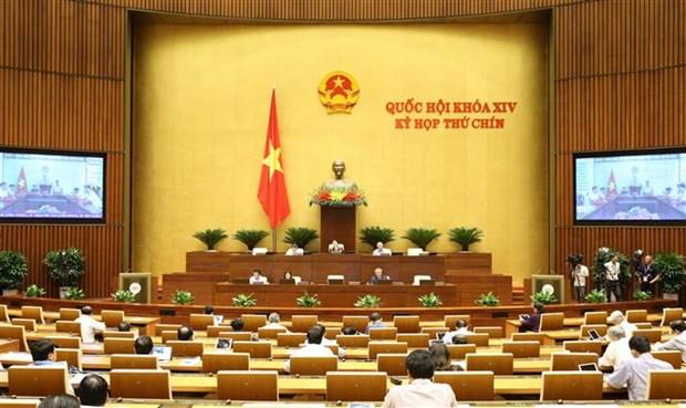 越南第十四届国会第九次会议:讨论国会关于免征耕地土地使用税的决议草案 hinh anh 1