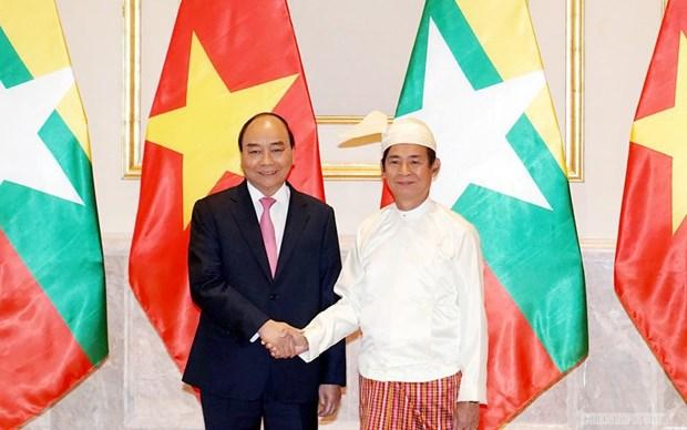 越南领导人致信祝贺越南-缅甸建交45周年 hinh anh 1