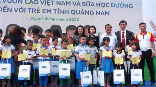 越南国家副主席邓氏玉盛在广南省开展人道主义活动 hinh anh 1