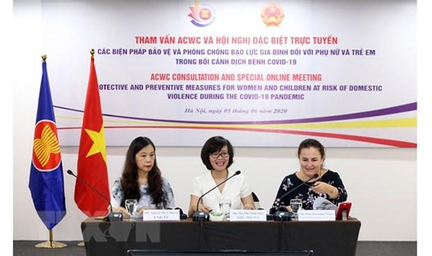 2020东盟轮值主席国年:在新冠肺炎疫情情况下保护妇女儿童和预防家庭暴力 hinh anh 1