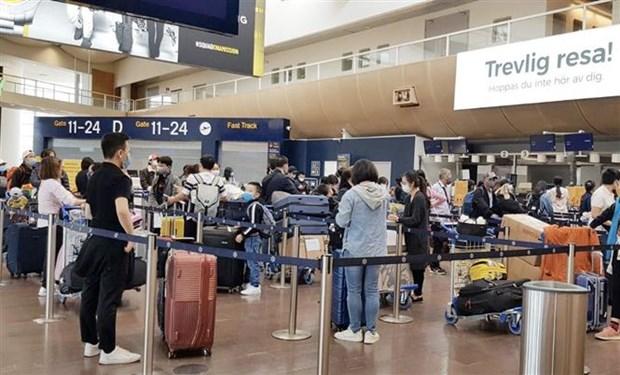越南将300多名公民从瑞典和芬兰接回国 hinh anh 1