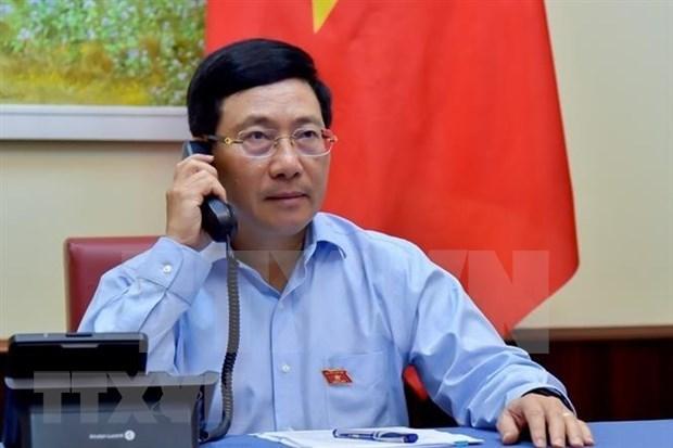 越南政府副总理兼外交部长范平明与埃及外交部长通电话 hinh anh 1
