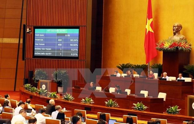 越南第十四届国会第九次会议通过批准加入ILO第105号公约的决议 hinh anh 1
