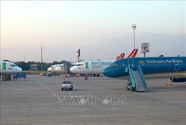 越南各家航空公司航班准点率猛增 hinh anh 1