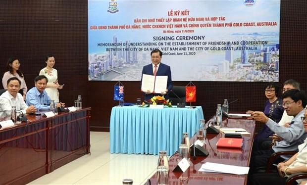 岘港市与澳大利亚黄金海岸市建立友好合作关系 hinh anh 1