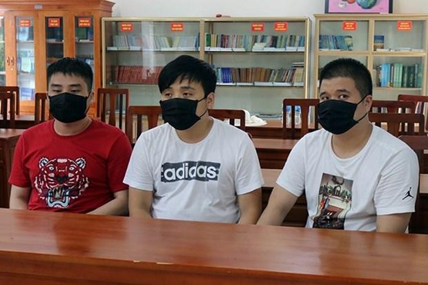 广宁省抓获3名非法入境外籍人员 hinh anh 1