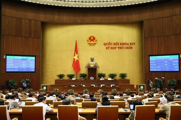 越南第十四届国会第九次会议:通过《法院调解与对话法》和《青年法》 hinh anh 1
